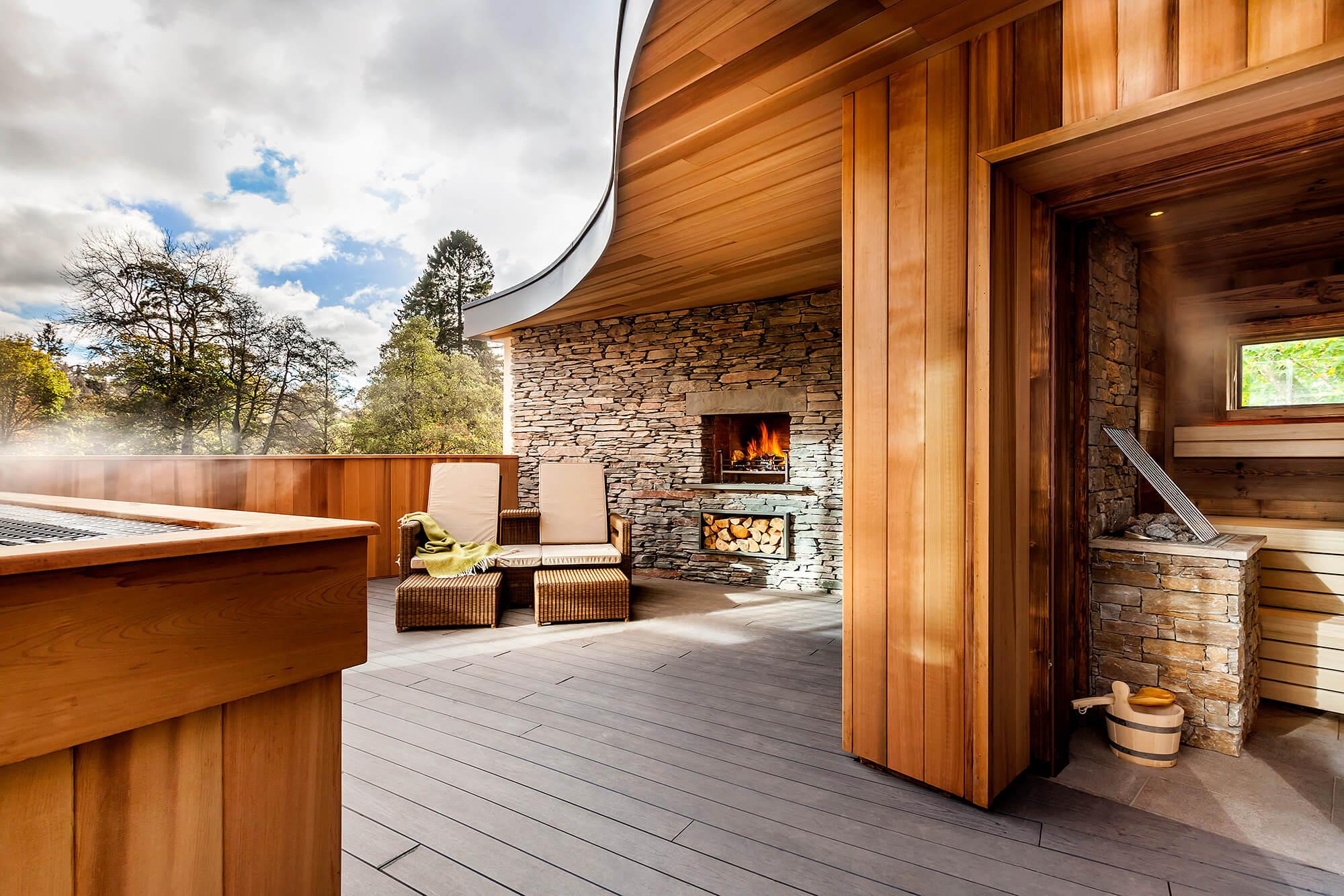Brimstone Spa outside relaxation area